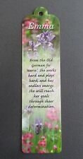 BOOKMARK EMMA Name Meaning New Gift BIRTHDAY CHRISTMAS Thankyou Present