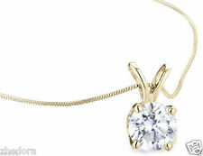 "3.0 CT Round Cut Solitaire Pendant Necklace 16"" Chain 14k Yellow Gold"