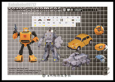 DETAILS STICKER SET FOR MP21 Bumblebee NEW Not Including Transformers Figure