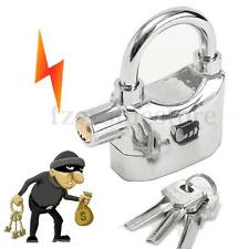 ALUMINIUM ALARMED LOCK SIREN PADLOCK MOTORBIKE ALARM LOCK BIKE SHED SECURITY