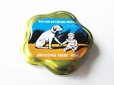 Grammophon NADELDOSE DOG AND BOY - MIT NADELN ! gramophone needle tin