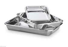 Hammer Stahl Bake Pan 3 Piece Set Rectangular 18/8 Stainless Steel Bakeware