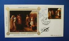 1983 JERSEY ARTISTS SILK FDC SIGNED BY BARBARA DICKSON [ BLOOD BROTHERS ]
