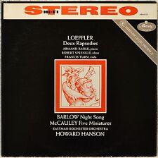 Loeffler Deux Rapsodies Living Presence Stereo LP Vinyl Armand Basile Sprenkle