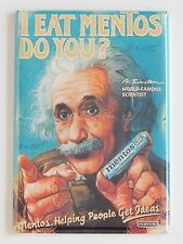 Albert Einstein Candy FRIDGE MAGNET advertisement e=mc2 poster