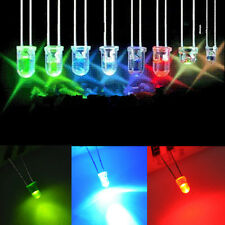 Blue Green Red White Yellow LED Light Bulb Emitting Diode Lamps 100pcs 3mm