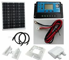 200W solar panel kit boat caravan motorhome camper 12v with brackets 20A LCD