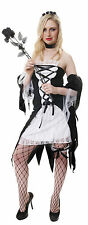 Ladies Zombie Dead Ghost Bride Halloween Fancy Dress Costume Outfit Size 8-10
