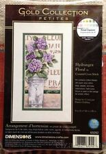 DIMENSIONS GOLD COLLECTION PETITES 65092 CROSS STITCH KIT HYDRANGEA FLORAL