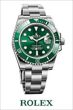 "Rolex submariner hulk green watch poster art print 16"" x 24"""