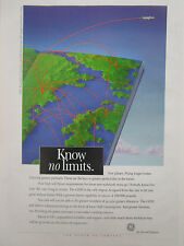 6/1993 PUB GENERAL ELECTRIC AIRCRAFT ENGINES GE90 AIRLINER AIRLINES ORIGINAL AD