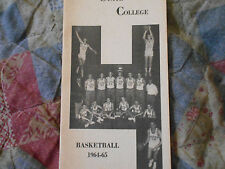 1964-65 FLORENCE STATE COLLEGE BASKETBALL MEDIA GUIDE 1965 Northern Alabama AD