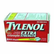 Tylenol Acetaminophen, Extra Strength, 500 mg, Caplets, 24 Each