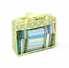 Hobby Gift Light Green Sage Polka Dot Fat Quarter Quilting Fabric Storage Bag