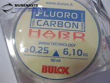 MONOFILO BULOX FLUORO CARBON 100% HARD 50mt 0,25mm 6,10kg - FIL69