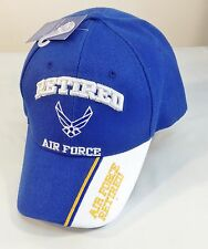 US Air Force RETIRED Ball Cap USAF USAAF Korea Vietnam Gulf War OIF OEF Vet Hat