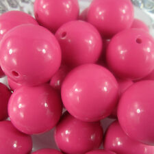 105PCS 20mm Hot Pink Chunky Gumball Beads Acrylic Solid Beads Bracelet Necklace