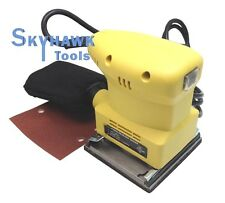 "1/4"" Electric Orbital Palm Grip Sander UL Hand 4""x4-1/4"" PAD  Sheet w/ Dust Bag"