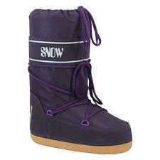 PURPLE Apres Ski Boots Euro taille 35-37 UK 2 3 4 dames enfants lune espace démarrer à nouveau