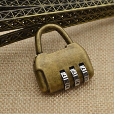 Vintage 3 Digits Password Chinese Old Style Cabinet Lock for Door Closet Padlock