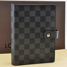 Auth Louis Vuitton Damier Graphite Agenda MM Day Planner Cover R20242 #S860