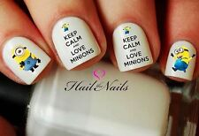 2 Sets 40 Minions Despicable Me Nail WRAPS Nail Art Water Transfers Decals YD059
