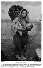1913 Dogra Important Military Hindu Race Charcoal Burner Nursing Child