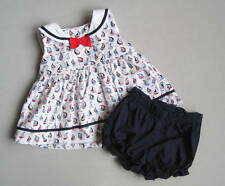 Gymboree SHORE TO LOVE Girls 12 18 Mo Sailboat Bloomer Set EUC Nautical Blue