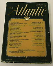 Janurary 1941 THE ATLANTIC Magazine - Wendell Willkie - W.H. Auden