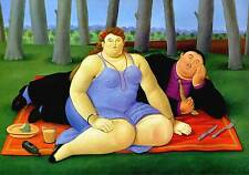 Botero #37 Canvas cm.70x100 Stampa Art su Tela Canvas, papiarte