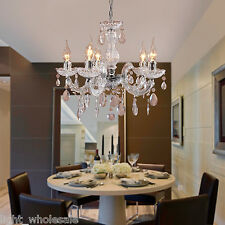 Chandelier Ceiling Pendant Light Modern Elegant Crystal Fixture 5Candle lighting
