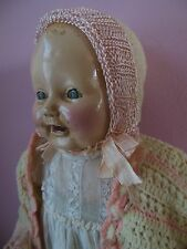 Antique Chuckles Composition Baby Century Doll Company w Dimples pretty clothing