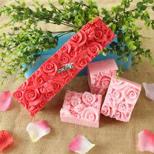 Rose Flower Silicone Soap Molds Rectangle Soap Mold Loaf Cake Tools Chocolate