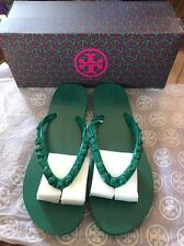 NWB Tory Burch Jeweled Thin Flip Flop, Color Emerald, Size 7