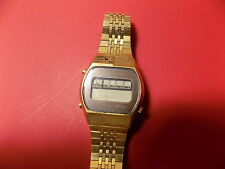 Vintage Citizen Men's Watch Japan 6-091458-Y UNTESTED Golden Digital FREE SHIP