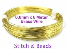 Brass Gold Jewellery Beading Wire 0.8mm x 6 Meter 20 Gauge Metal Craft Finding