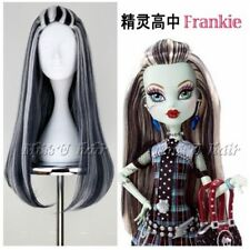 Monster High Frankie Stein New Cosplay Wig Hair Fashion Masquerade Party Cos Wig