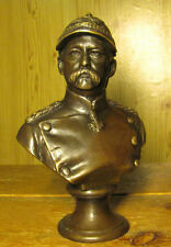 GERMAN STATESMAN - OTTO VON BISMARK Iron Chancellor - UNIQUE METAL BRONZE STATUE