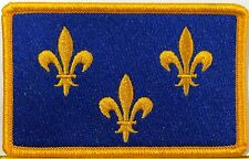 PARIS ISLE THE FRANCE Flag Patch With VELCRO® Brand Fastener Military Version #1