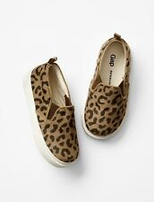 GAP Baby / Toddler Girls Size 7 Brown Leopard / Animal Slip-On Sneakers Shoes