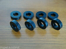 8 Black Plastic Nylon M8 Spacers 18mm O/D 8.4mm I/D x 5mm Long FREE UK POSTAGE