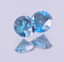 0.40 Carat Fancy Blue Natural Round Diamond Loose PAIR Real Image Clean ASAAR