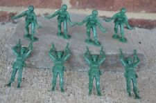 Marx WWII US Paratroops Soldiers D-Day 1/32 54 MM Toy Playset Green