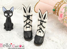☆╮Cool Cat╭☆【24-1】Blythe/Pullip Cute Bunny Ear Mini Boots # Black