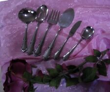 "#y VINTAGE ""BANQUET "" SEARS ROEBUCK TRADITION STAINLESS  6 Pc. SERVING SET  USA"