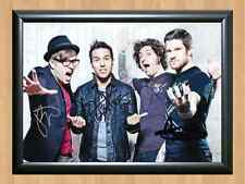 FALL OUT BOY Save Rock and Roll Signed Autographed A4 Photo Print Poster CD DVD