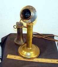 NICE WESTERN ELECTRIC 349 BRASS CANDLESTICK 20AL Telephone WORKS!