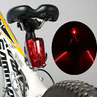 Safety Cycling Bike Bicycle 2 Laser Beam and 3 Modes 5 LED Rear Light Tail Lamp