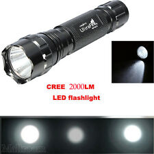 2000LM Lampada tascabile CREE XM-L 501B T6 LED High Power Zoom Luce Torcia