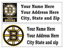 60 BOSTON BRUINS RETURN ADDRESS LABELS MANY CHOICES